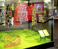photo of v&a 60s fashion exhibit